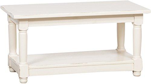 Biscottini Table Basse, Tilleul Massif 90x50x45 CM
