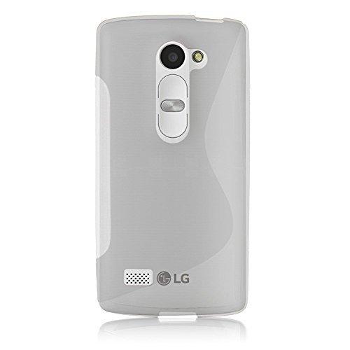 Connect Zone LG Leon H340N S Line Gel De Silicone Étui + Protection Ecran Protection Et Chiffon Polissage - Transparent S Line Gel, LG Leon H340N