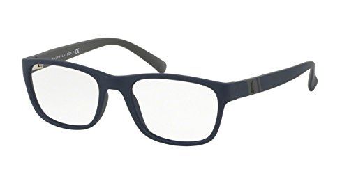 Polo Ralph Lauren - PH 2153, Rechteckig, Propionat, Herrenbrillen, MATTE NAVY BLUE GREY(5590), 53/18/145 (Lauren Brille Polo Ralph)