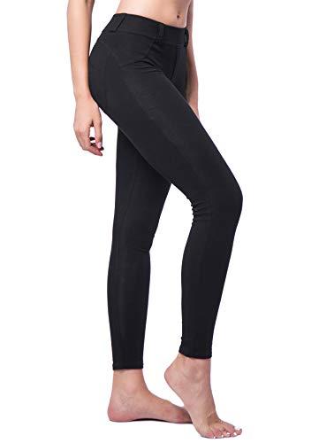 INSTINNCT Damen Push up Leggings Hose Jogginghose Stretch Workout Fitness Schwarz L