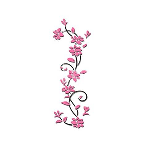 erthome DIY 3D Blumen Acryl Kristall Wandaufkleber Wohnzimmer Schlafzimmer Home Dekor 9.6