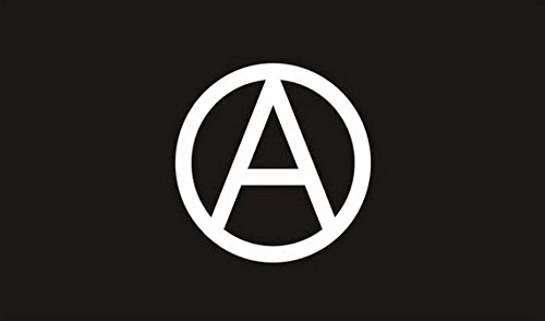 Anarchie Flagge 3ft x 2ft Medium-100% Polyester-Metall Ösen-doppelt genäht (Metall-anarchie-symbol)