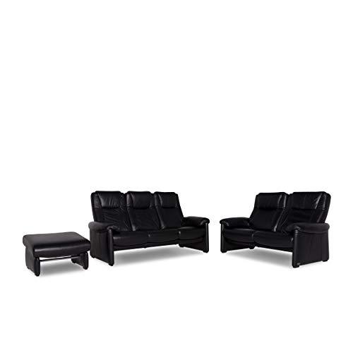 Willi Schillig Designer Leder Sofa Garnitur Schwarz 1x Dreisitzer 1x Zweisitzer 1x Sessel #9757 - Leder-sofas Und Zweisitzer