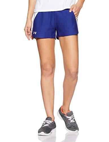 d4b5eb6566f77 Under Armour Damen Play Up Shorts 2 Kurze Hose, blau(Formation Blue / White