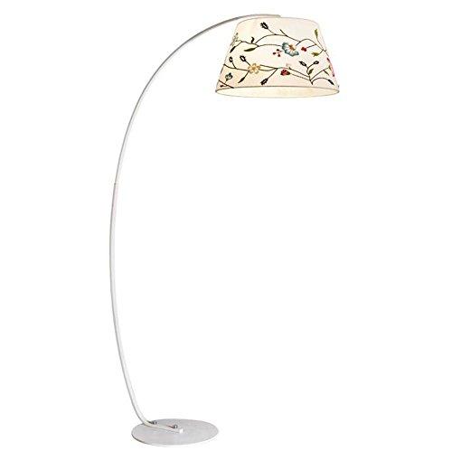 Stehleuchte - Moderne Arc MetalModerne Einfachheit Standing Light Leselampe Mit 8-Color Bestickte Stoff Lampenschirm Und Fußschalter Für Schlafzimmer Wohnzimmer
