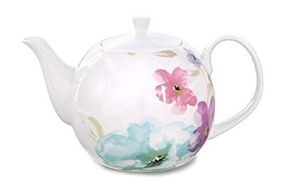 Réservez mer Théière en porcelaine/Théière 1500ml, Porcelaine fine, décor floral, original Aricola®
