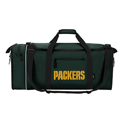Northwest NFL stehlen Duffel, grün, Measures 28-inches in Length, 11-inches in Width and 12-inches in Height
