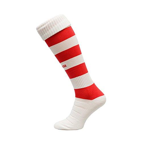 calcio-calzettoni-modello-c-calcio-calze-calzettoni-100-traspirante-molti-colori-bianco-rosso-42-44