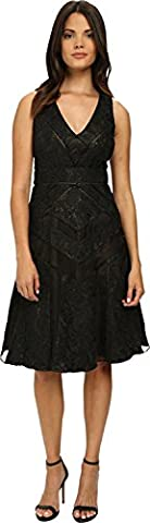Mischka Badgley Women's Runaway Collage dentelle robe de cocktail robe