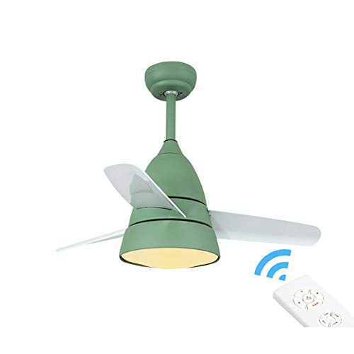 Sylj ventilatore da soffitto moderno da 36 pollici con luce regolabile a 3 luci a led a lamelle led adatto per camerette, lame nichelate/bronzo, telecomando, silenzioso motore a risparmio energetico