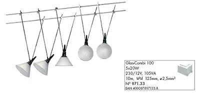 Paulmann Leuchten Wire System Glas-Combi 100, 5 x 20 W G4, 230 / 12 V, 105 VA Metall Glas, chrom / satin 97133 von Paulmann|Paulmann - Lampenhans.de