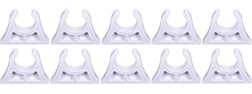 wellenshop Osculati Bootshakenhalter 10 Stück 28-30 mm Kunststoff Weiß Angelrutenhalter Bootshaken Paddelhalter Befestigungsschelle Boot
