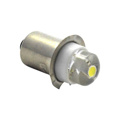 P13.5s AC 4,5 V 0,5 W Blanc 6000 K Ampoule LED Lampe torche Phare Mini lampe frontale lampe de poche, Non-polar adaptant aux Earth négatifs et Positifs Earth (lot de 1)