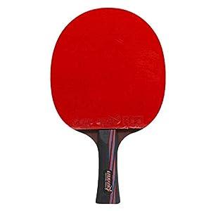 poetryer Tischtennisschläger Tischtennis-Set mit 3 schichtiger Kernplatte Klassische Struktur Starke Reibung für im Freien Innen Sportaktivitäten