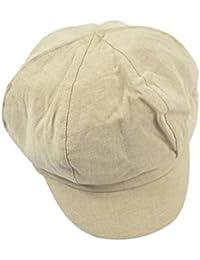 SHIZHESHOP Gorra de Pintor de algodón para Hombre y Mujer Gorra de Boxer  Retro británica para Mujer Sombrero Retro Bere para Gorro… c3c6fb71ba8
