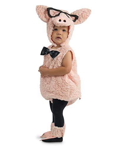 Kostüm Schweinchen Kleinkind Für - Horror-Shop Hipster Schweinchen Kleinkinderkostüm für Fasching & Karneval 4 Jahre