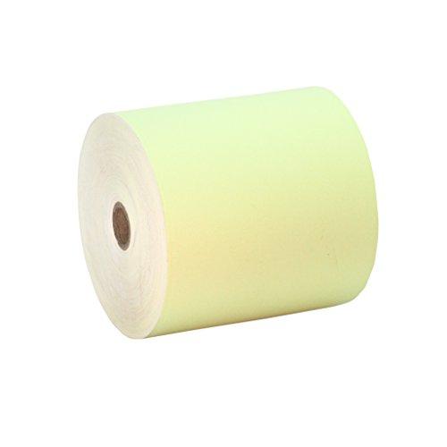 10 Rollos 80x80 Papel Térmico Color Amarillo