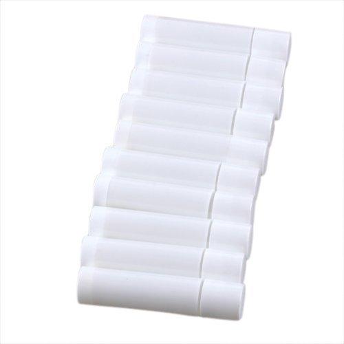 TOOGOO(R) 100 Blanc Vide Baume a levres Tubes Conteneurs