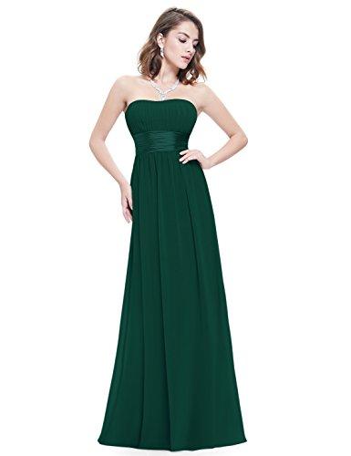 Ever Pretty Damen Empire Taille Schulterfrei Lange Abendkleider Brautjungfernkleid 44 Größe Dunkelgrün