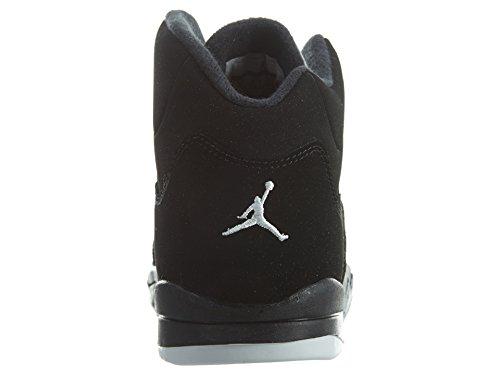 Nike Jungen Jordan 5 Retro Bp Basketballschuhe Black (Schwarz / Feuer - Rot-Metallic Silber)