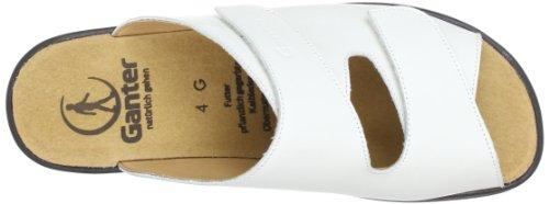 Ganter Monica, Weite G 5-202501-02000, Sandali donna Bianco (Weiß (weiss 0200))