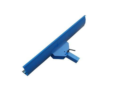 Universal Räumschild Blau / 200 cm breit + 40 cm hoch / Für Einachser oder Rasentraktor / 3-stufig verstellbar / Inklusive wechselbarer Schürf-Leiste aus Gewebe-Gummi / Schneeschieber Winterdienst Schneeschild Schneeschaufel