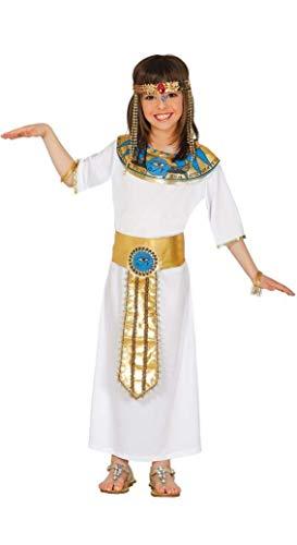 Costume Nefertiti egiziana Cleopatra carnevale bambina taglia 10-12 anni 45b407726676