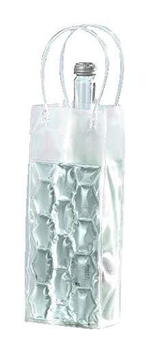 joka international GmbH 2 Flaschenkühler Tasche mit Eisgel zum einfrieren Sektkühler Weinkühler weiß