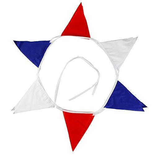 Vektenxi12 Fahnen weiß rot blau Flagge Banner Wimpel Hochzeit/Geburtstag Party Decor langlebig und nützlich