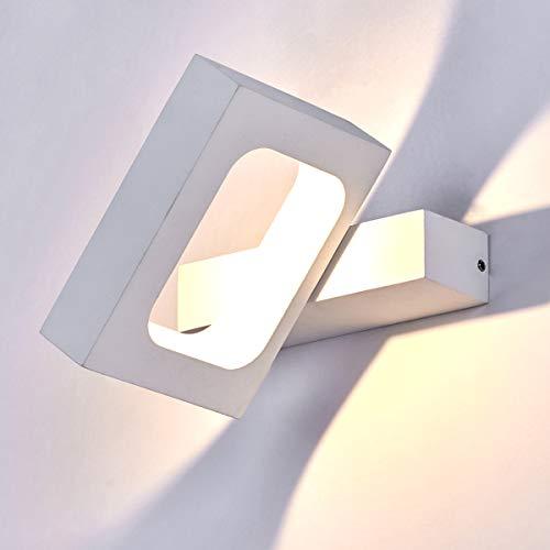 HAOFU 10W LED Apliques de Pared,Lamparas de Pared, Bañador de Pared,Luz Blanco Cálido 3000K, Universal...