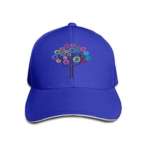 table Flat Hat Baseball Caps Education Tree Concept Learning Education Icons Tree Education Blue ()