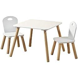 Kesper 17712 Table pour enfant avec 2 chaises Blanc