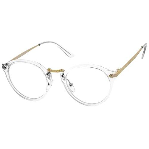 Kiss Brillen in neutralen stil MOSCOT mod. FLAT - optischen rahmen VINTAGE mann frau unisex - CRYSTAL
