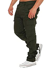 2716db5ace26 Finchman Herren Cargo F1001 Hose Lang Trousers Pant Freizeithose Tapered Fit