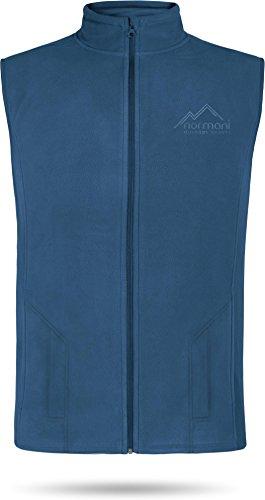 normani Herren Fleeceweste 300 g/m² Body Warmer mit Seitentaschen Farbe Navy Größe XL