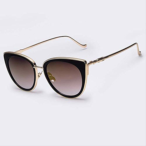 JU DA Sonnenbrillen Metallrahmen Cat Eye Frauen Sonnenbrille Weibliche Sonnenbrille Berühmte Marke Designer Legierung Beine Gläser Oculos De Sol Feminino C3gold Spiegel