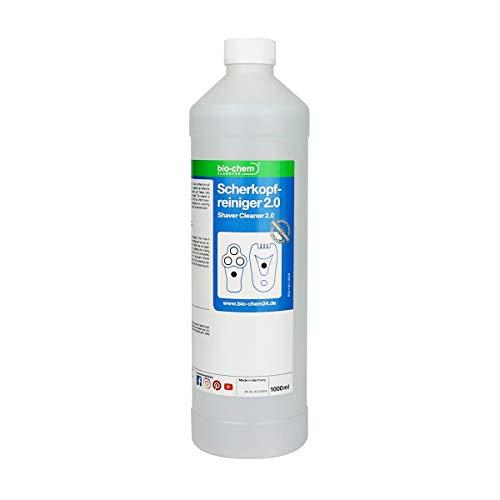 Bio-rasiercreme (bio-chem Scherkopfreiniger 2.0 mit verbesserter Rezeptur 1000 ml Nachfüllflüssigkeit für Reinigungskartuschen & Tanks)