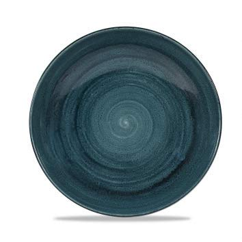 Churchill Stonecast -Coupe Bowl Schüssel- Durchmesser: Ø24,8cm, Farbe wählbar (Rustic Teal) Teal Coupe