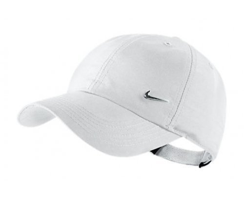 NIKE Metal Swoosh Cappello Junior, Bianco