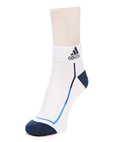 Adidas Half Cushion High Ankle Socks, Pack of 3 (White/Blue)  available at amazon for Rs.350
