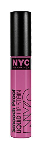 N.Y.C. New York Color Smooch Proof Liquid Lip Stain, Perpetually Mauve, 0.24 Fluid Ounce