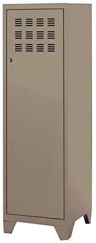 Vestiaire 1 porte / serrure Longueur 40 x Hauteur 134cm Acier STEEL