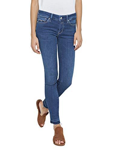 Replay Damen LUZ Skinny Jeans, Blau (Dark Blue 7), W33/L32 (Herstellergröße: 33) -