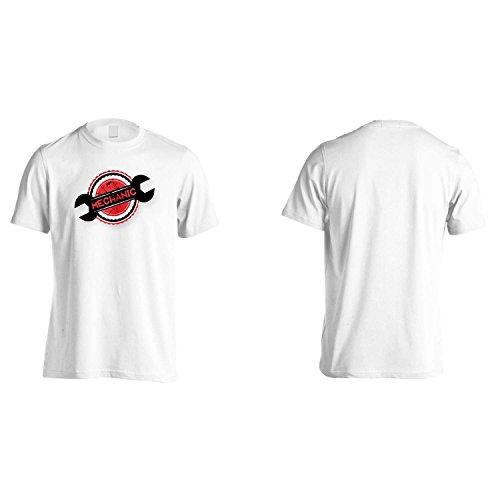 Meccanico posso risolvere Auto Chiave Servizio Garage Uomo T-shirt p47m White