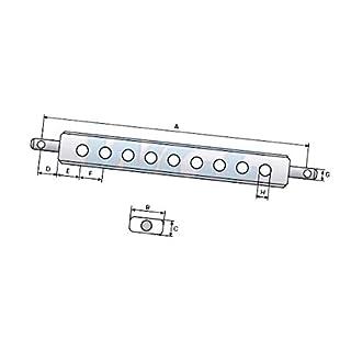 Ackerschiene für Traktoren 970 mm - Kategorie 2 L-Durchmesser (H) 4x30/3x26