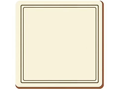 Creative Tops Classic Premium Cork-Backed Coasters, Wood, Cream, 6-Piece