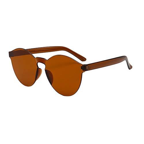 Dtuta Sonnenbrillenaufsatz FüR Brille Damen Rahmenlose Sonnenbrille In Gelee-Optik Europa Und Amerika. Integrierte Sonnenbrille In SüßIgkeitenfarbe. Leicht, Kompakt Und Leicht Zu Tragen