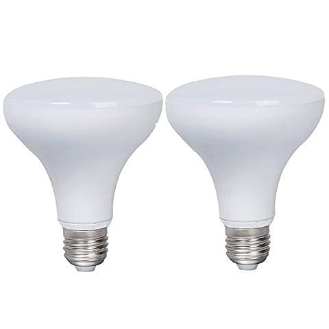 2-Pack Boîtier en aluminium non dimmable LED Ampoules R90 E27 Base 12w (75w équivalent) Angle de faisceau de 180 degrés