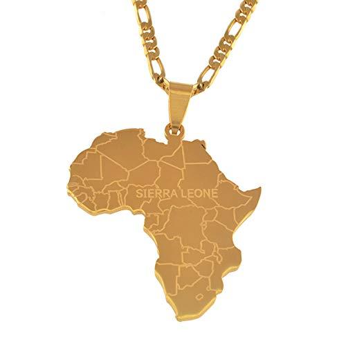 Hip-hop Stil Afrika Karte Mit Sierra Leone