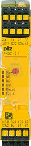 Pilz Not-aus-Schaltgerät PNOZ s4.1#750154 48-240VACDC3n/o 1n/c Gerät zur Überwachung von sicherheitsgerichteten Stromkreisen 4046548054224